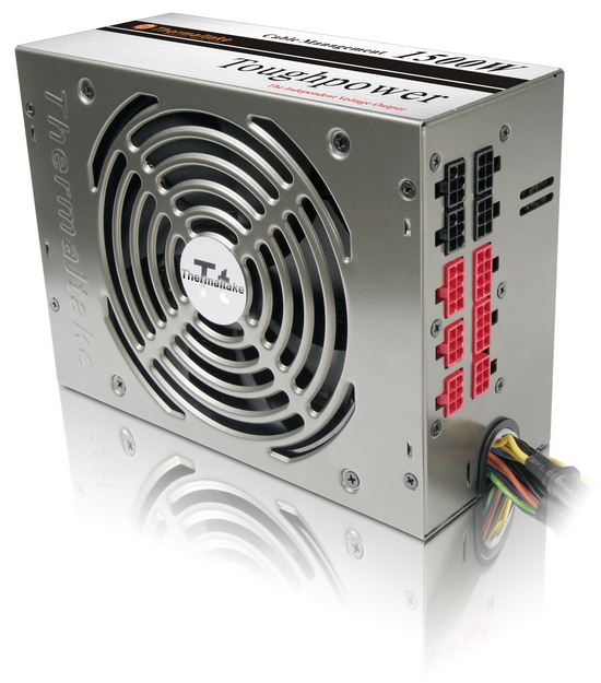 Блок питания thermaltake toughpower tp-1000m, 1000w, 12v23, esp 291, active pfc, 140mm fan, блоки питания