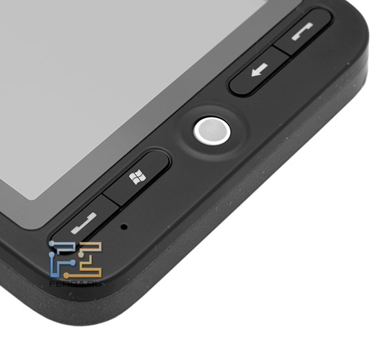Аппаратные клавиши и трекбол под экраном на Highscreen Hippo