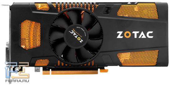 Лицевая сторона видеокарты ZOTAC GTX 560 Ti 448 Cores