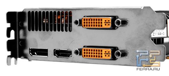 Видеовыходы  ZOTAC GTX 560 Ti 448 Cores