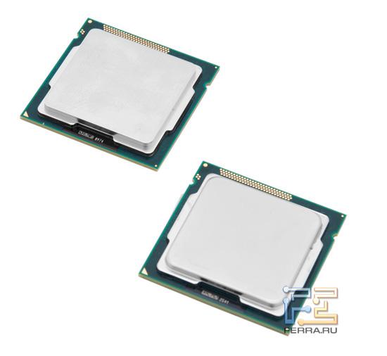 Процессоры Intel Pentium G620 и G850, общий вид