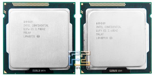 Процессоры Intel Pentium G620 и G850, вид сверху