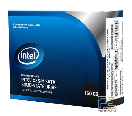 Retail упаковка Intel X25-M G2 160 GB