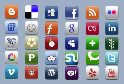 социальные русские иконки: